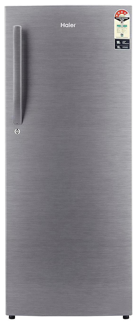 Haier Direct Cool 220 L Single Door Refrigerator (HRD-2204BS-E, Brushed Silver)
