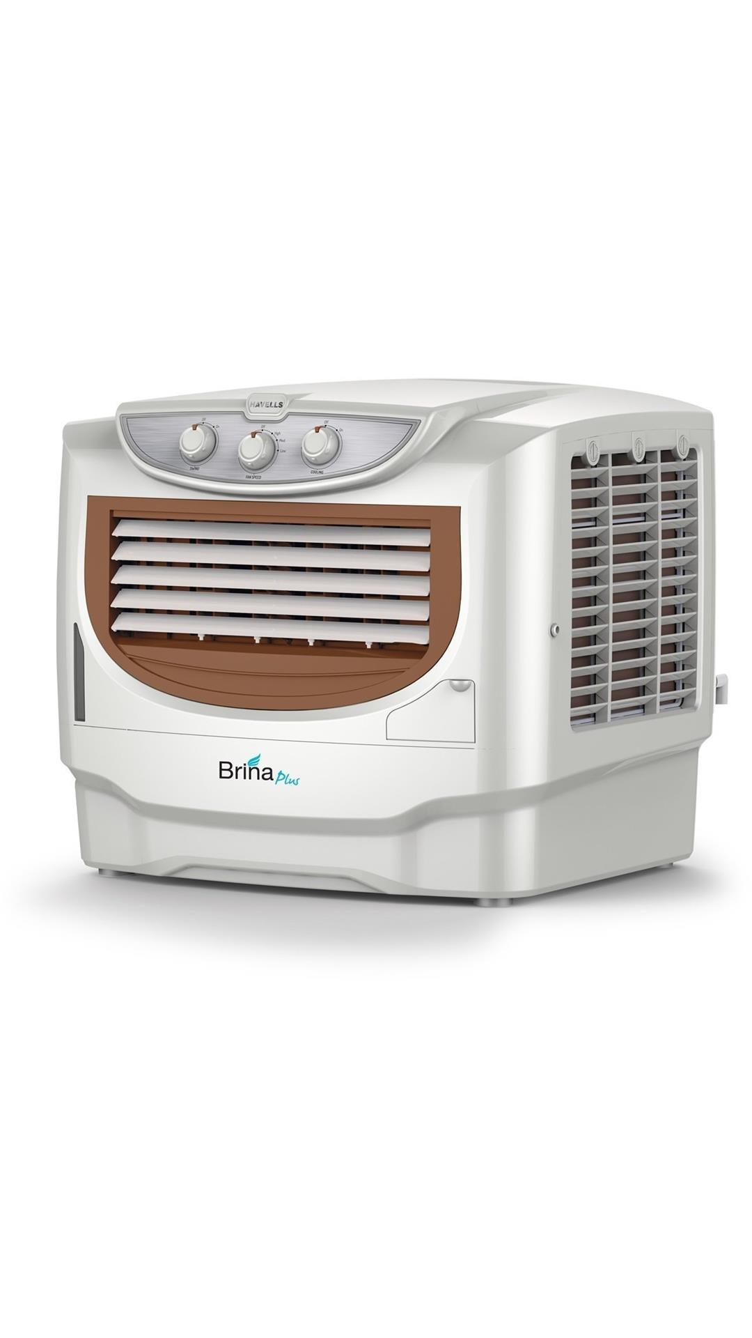 Havells Brina Plus 50 Litres Window Air Cooler (White & Grey)