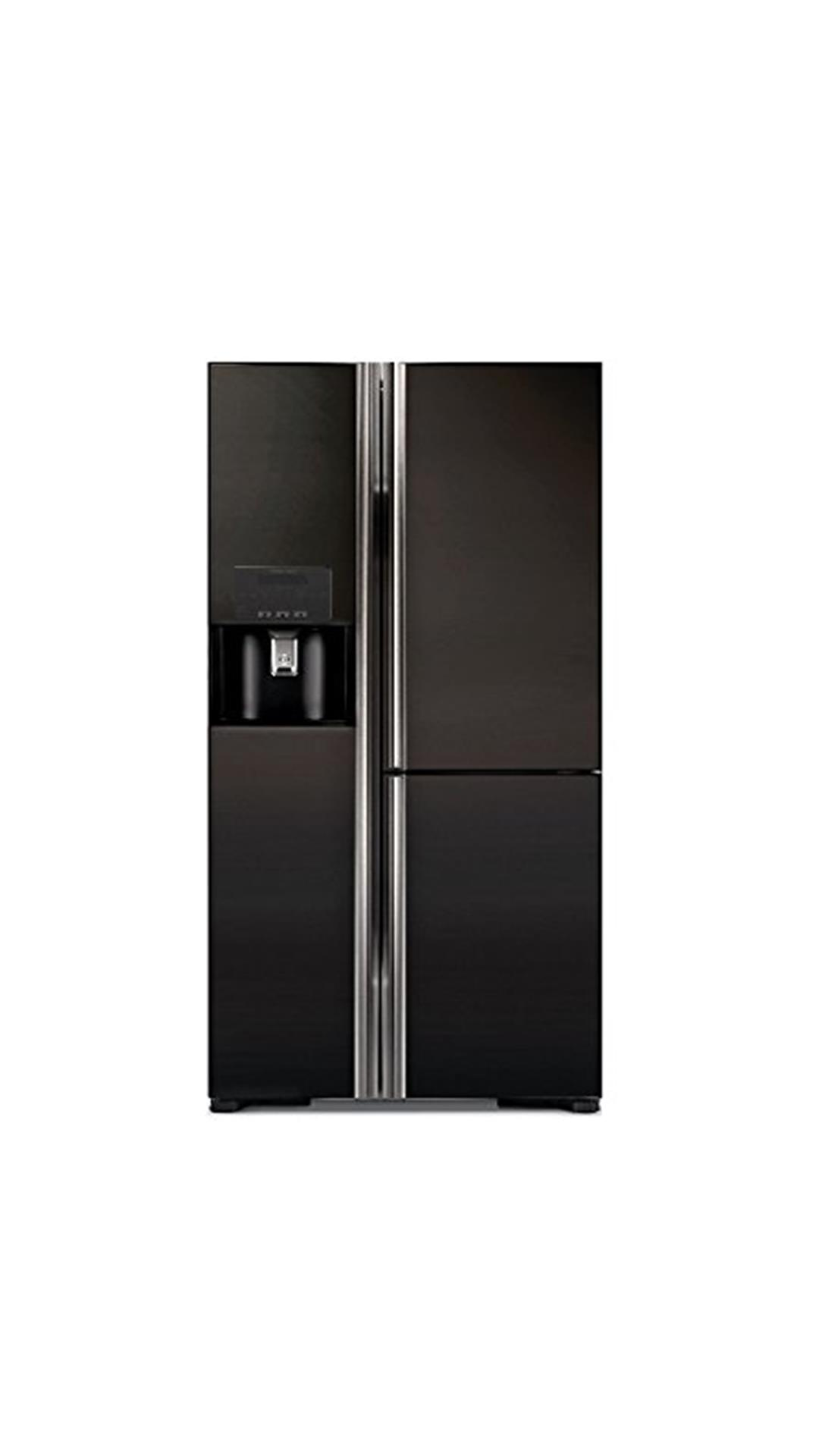 Hitachi 651 L Side By Side Refrigerator (Glass Black) - R-M700GPND2 - (GBK)