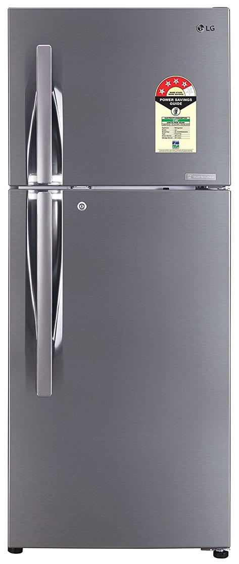 Lg 260 L Frost Free Double Door 3 Star Refrigerator Shiny