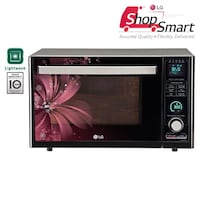 LG 32 L Convection Microwave Oven (MJ3286BRUS, Black and Maroon)