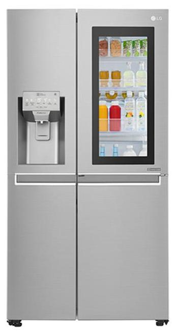 LG Frost Free 668 L Side By Side Refrigerator (GC-X247CSAV  Silver)