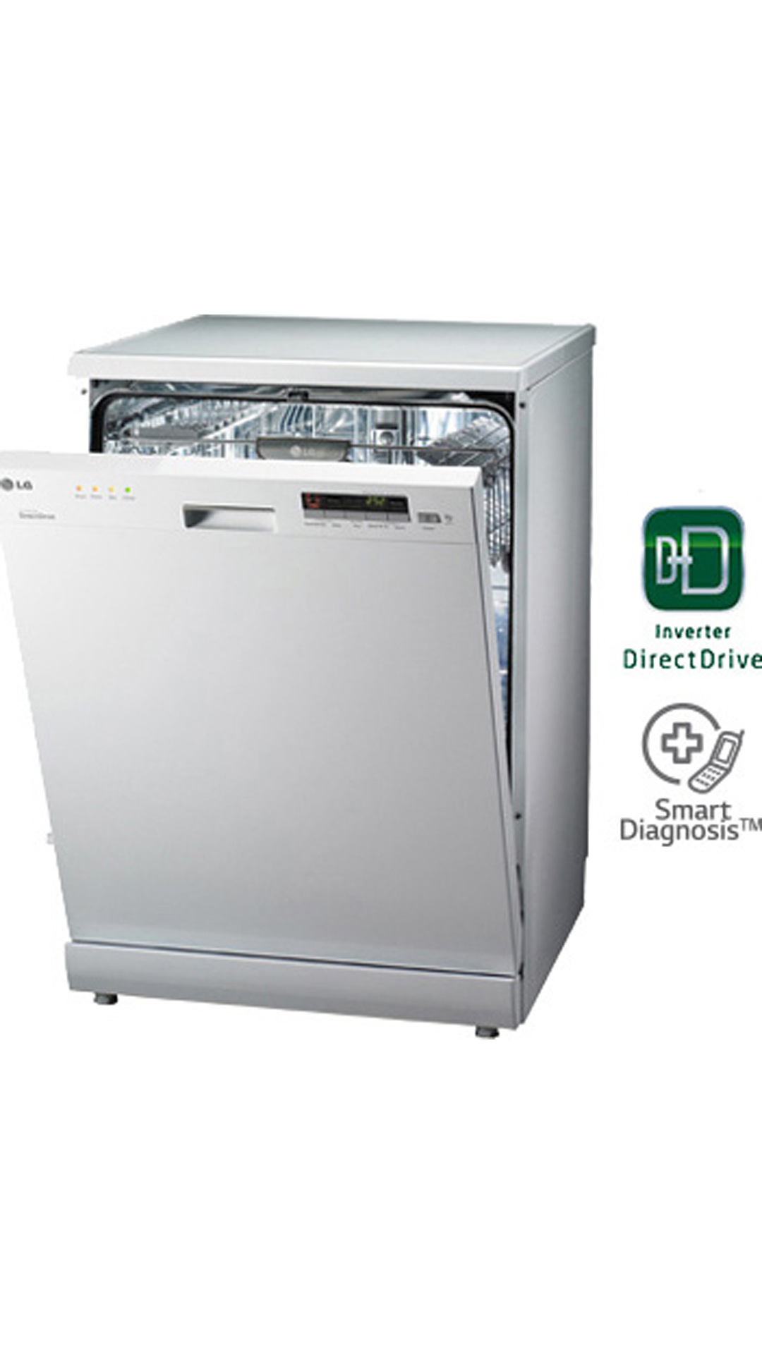 LG D1451WF 14 Places Setting Dishwasher (White)
