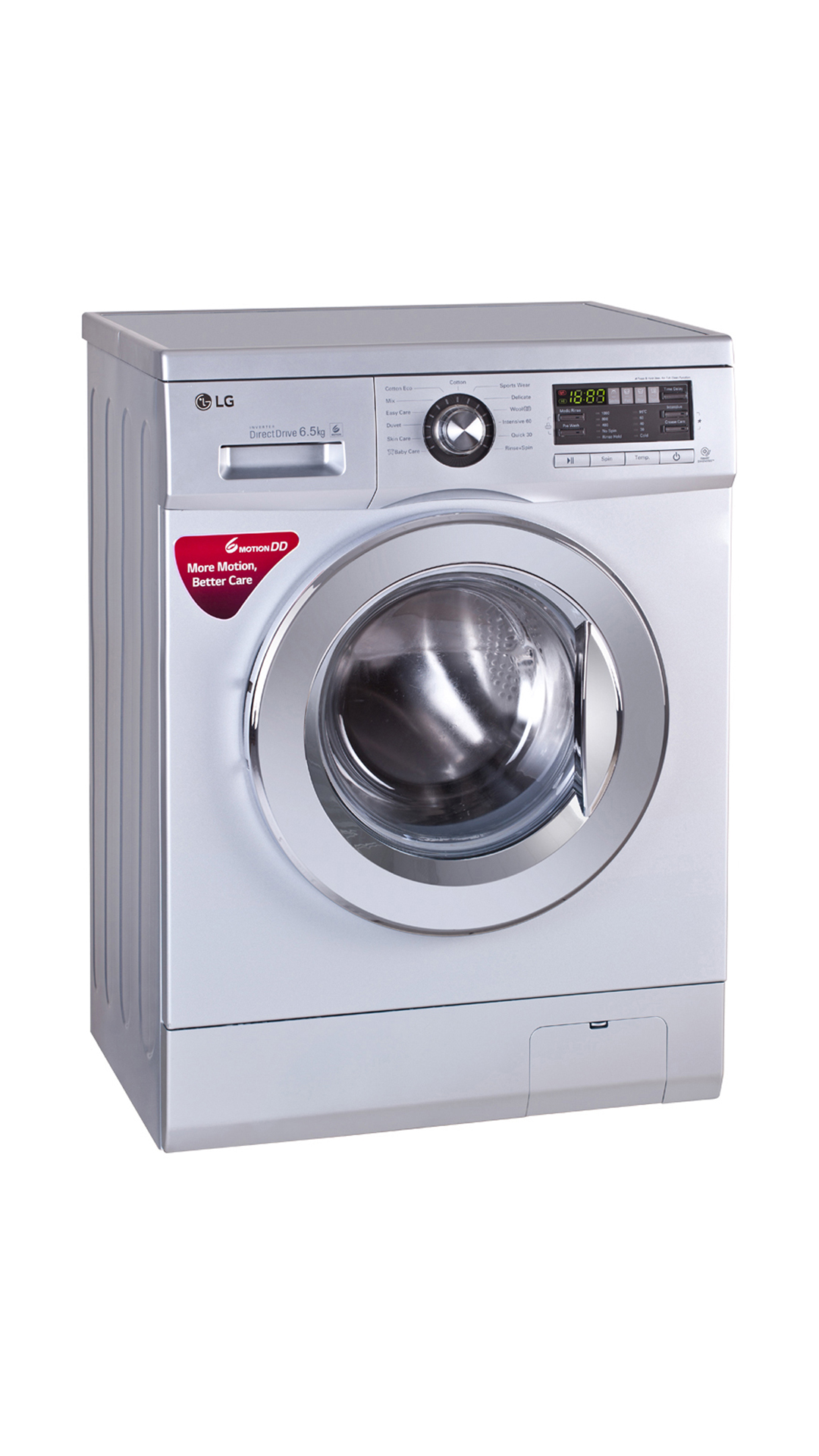 LG FH096WDL24 Fully Automatic Front Loading 6.5 kg Washing Machine (Luxary Silver)
