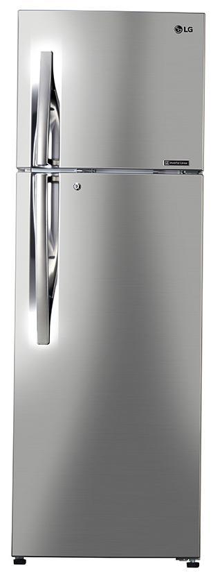 LG (Frost Free) 284 L Double Door Refrigerator (GL-T302RPZU,Silver)
