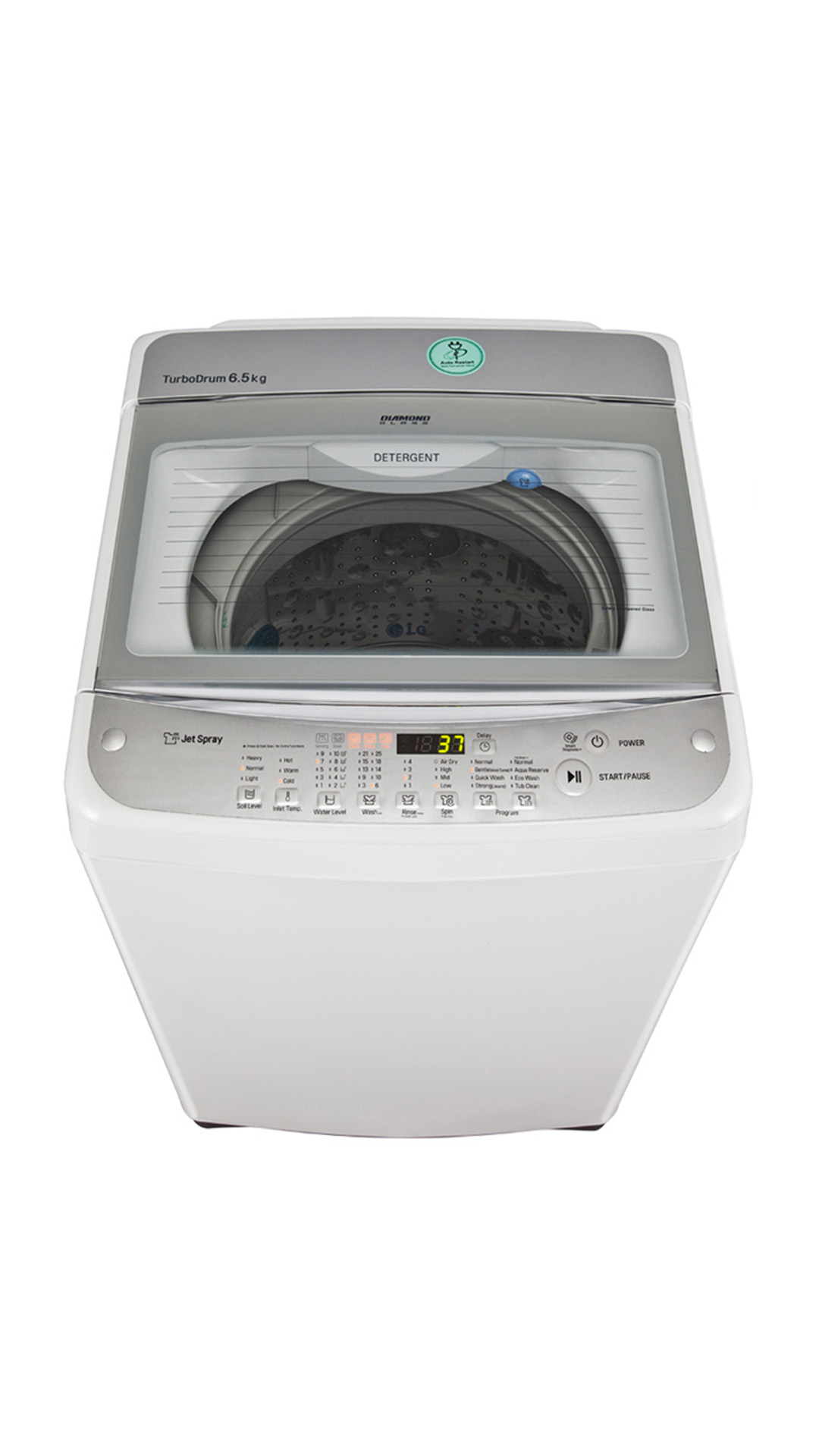 LG T7568TEEL Fully Automatic Top Loading 6.5 KG Washing Machine (White)