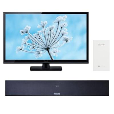 Panasonic 127 cm (50) Full HD Standard LED TV TH-50C300DX With Free Philips Sound Bar -375U + Sony Power Bank 5000 mAh