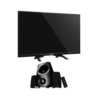 Panasonic 81.28 cm (32) HD/HD Ready Standard LED TV TH-32D400D With Free Philips Thunder IN-MMS6000F Multimedia Speaker (Black)