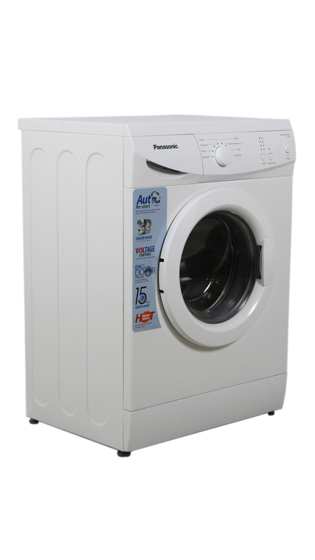 Panasonic NA106MC1W01 Fully Automatic Front Loading 5.5 KG Washing Machine (White)