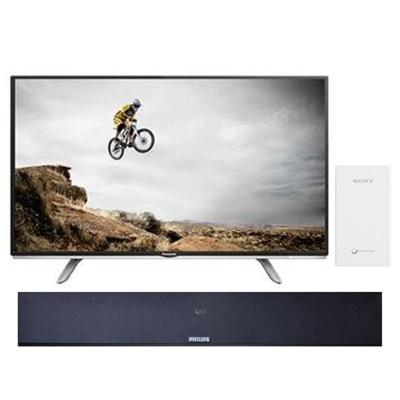 Panasonic 102 cm (40) Full HD Smart LED TV TH40DS500D With Free Philips Sound Bar -375U + Sony Power Bank 5000 mAh