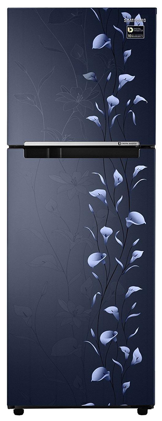 Samsung Frost Free 253 L Double Door Refrigerator (RT28M3022UZ, Tender Lily Blue)