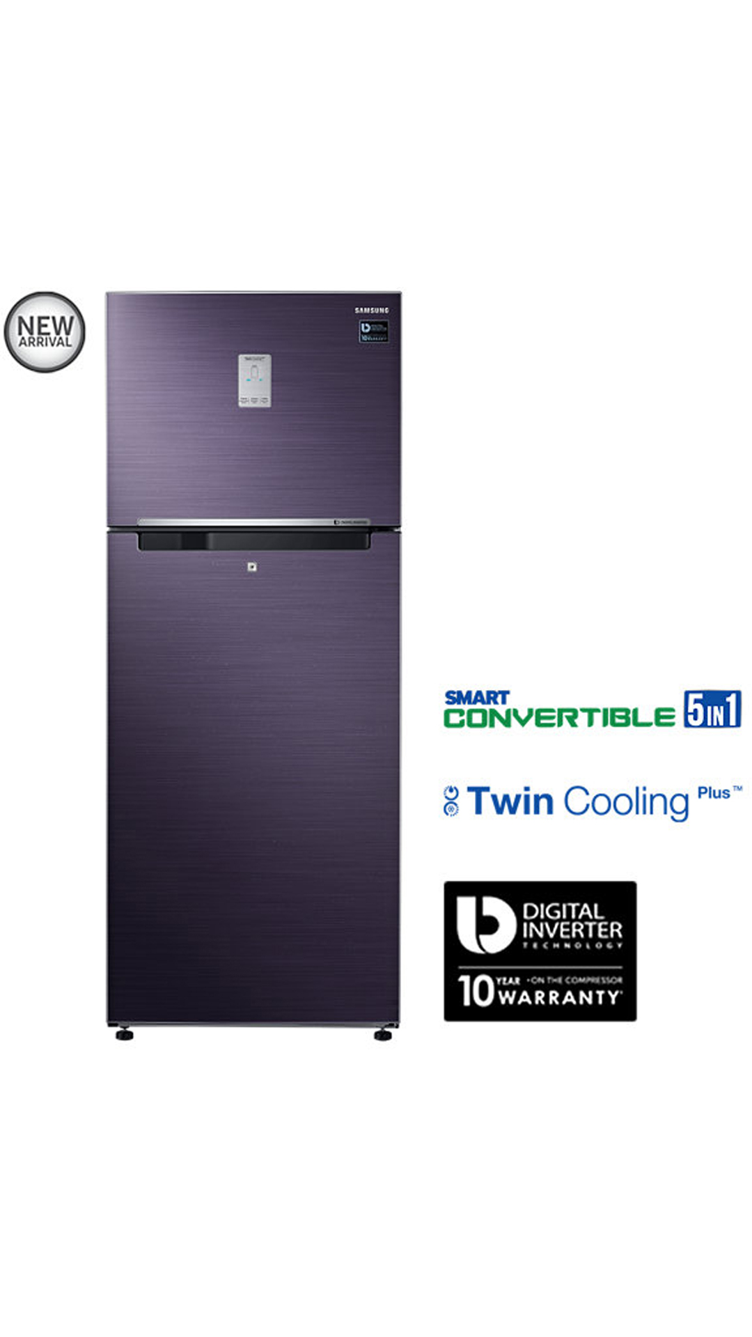 Samsung 465 L Double Door Refrigerator (Pebble Blue) - RT47K6238UT