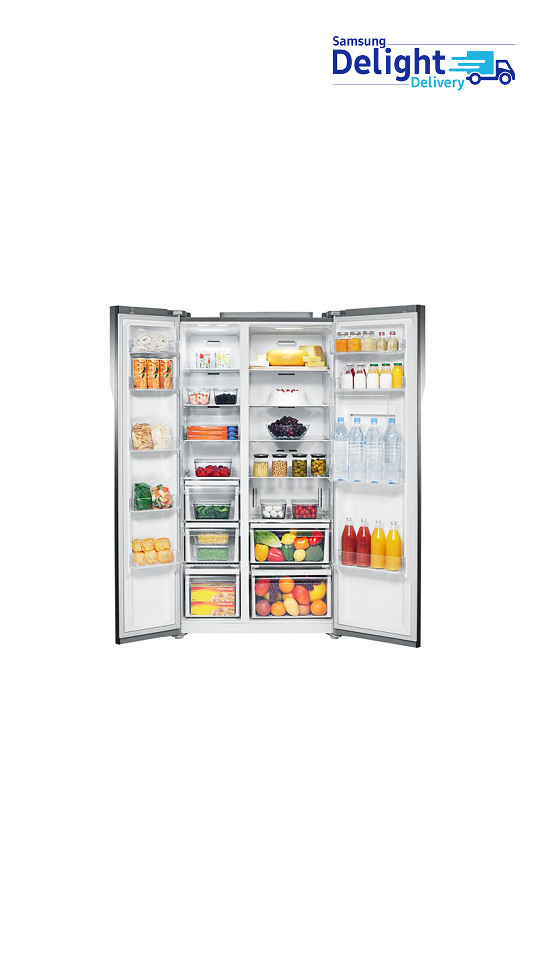 Samsung RS554NRUA1J 591 L Side By Side Refrigerator (White)