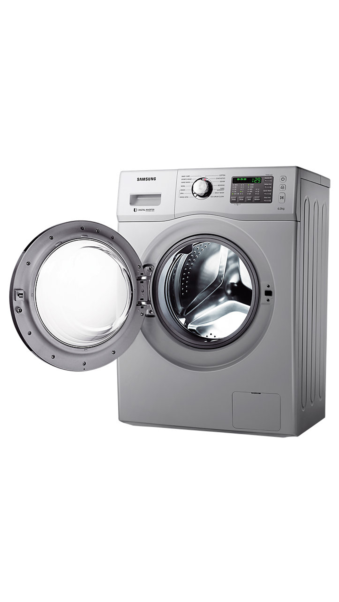Samsung WF652U2BHSD/TL Fully-Automatic Front-Loading Washing Machine (6.5 Kgs, Silver)