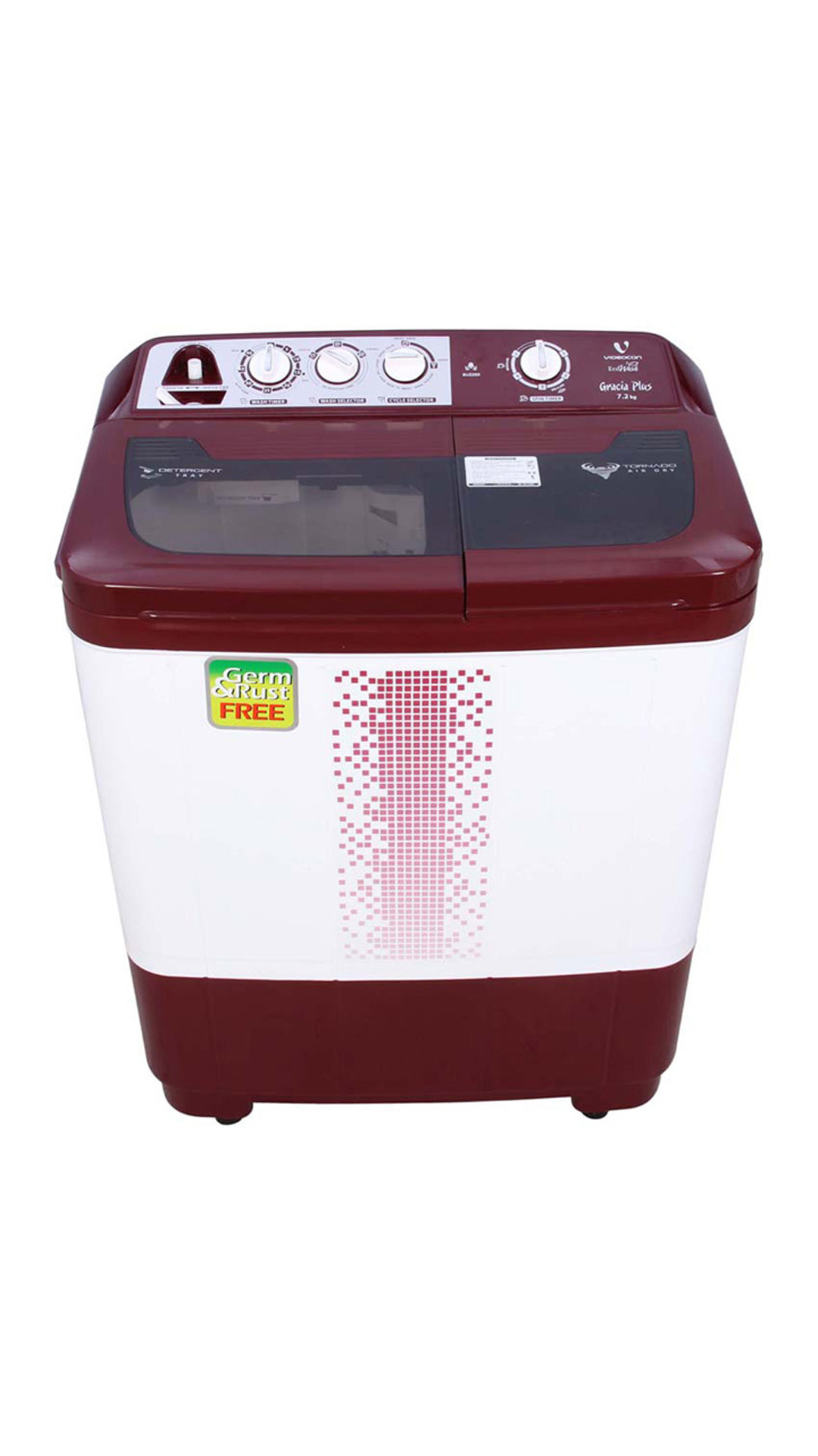 Videocon 72H12DMA Semi Automatic Top Loading 7.2 kg Washing Machine