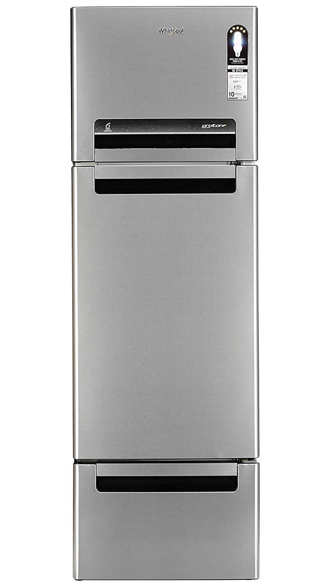Whirlpool Frost Free 330 L Triple Door Refrigerator (FP 343D Protton Roy, Alpha Steel)