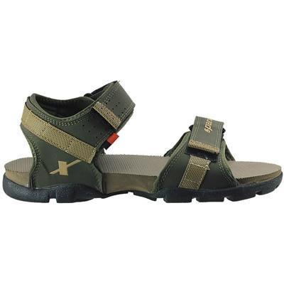 Sparx Green Olive Camel Floater Sandals