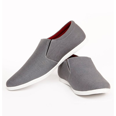 Zapatoz Mens Grey Loafers