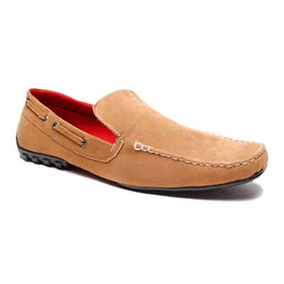Zapatoz Brown Loafer Shoes (Size-7)