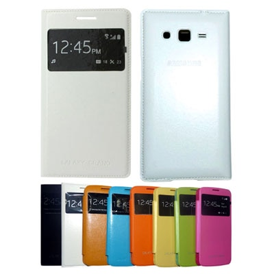 ClickAway Flip Cover For View Flip Case Cover (White)