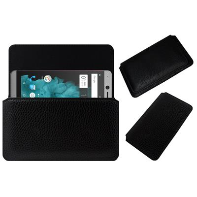Acm Horizontal Case For Smartron Tphone T5511 Mobile Leather Cover Black