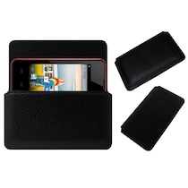 ACM Pouch Cover For Micromax BOLT A58 (Black)