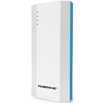 Ambrane P-1111 10000 mAh Power Bank (Turquoise)