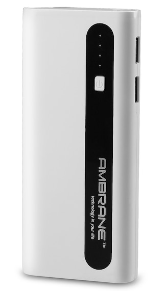 Upto 80% Off On Power Banks By Paytm | Ambrane P-1310 13000 mAh Power Bank (White & Black) @ Rs.999