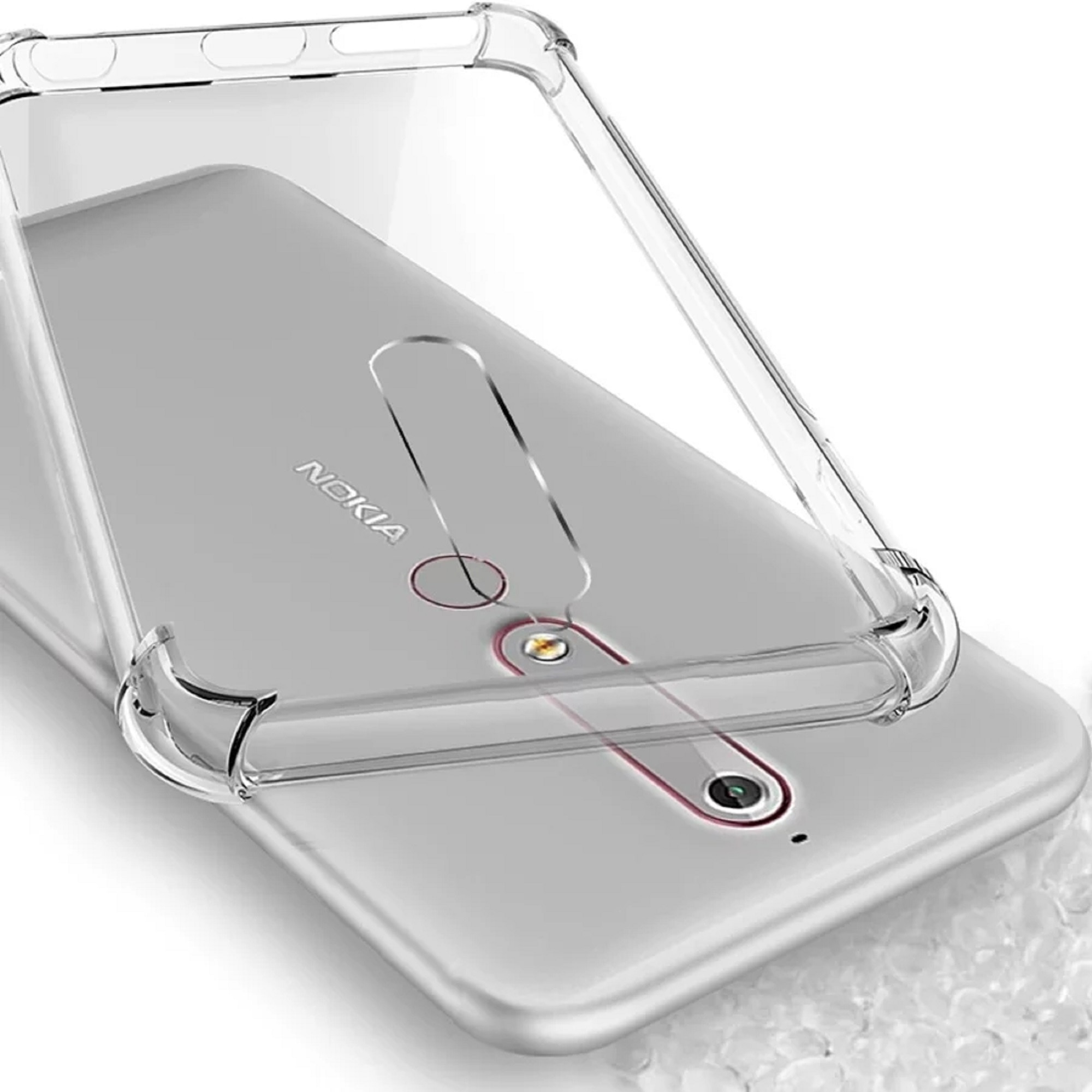 Ankirant Back Cover For Nokia 6.1 (Transparent)