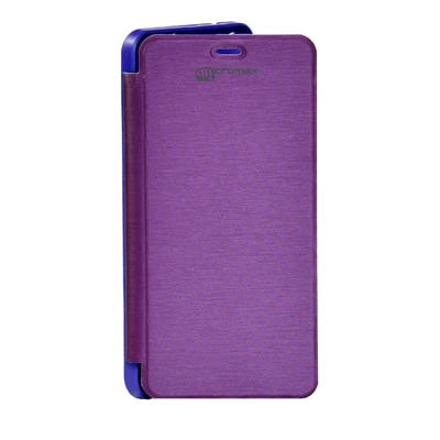 ARS Flip Cover For Micromax A67 Bolt  Purple  available at Paytm for Rs.220