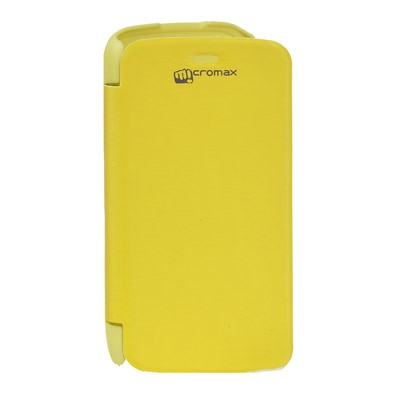 ARS Flip Cover For Micromax A47 Bolt  Yellow  available at Paytm for Rs.220