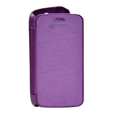 ARS Flip Cover For Micromax A47 Bolt  Purple  available at Paytm for Rs.220
