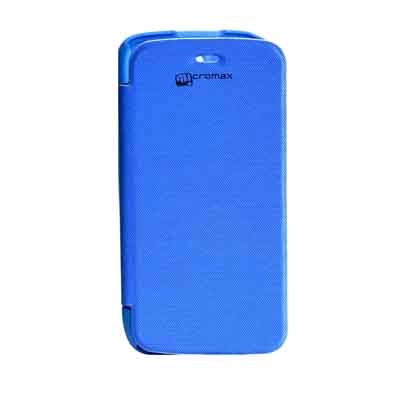 ARS Flip Cover For Micromax A47 Bolt  Blue  available at Paytm for Rs.220