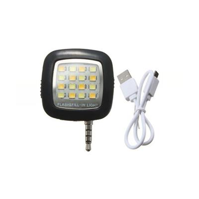 Asm Mobile Flash Light For All Smart Phones (Black) With Data Cable