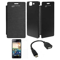 BeingStylish Flip Cover For Micromax Canvas Turbo A 250 (Black)