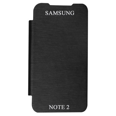 Coverage Flip Cover For Samsung Galaxy Note 2 N7100  Black  available at Paytm for Rs.99