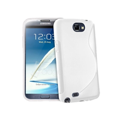 DENWA Back Cover For Samsung Galaxy Note 2  White   Pack of 2  available at Paytm for Rs.99