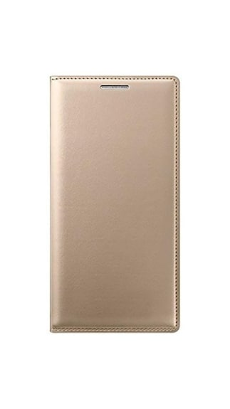 DEV Flip Cover Case for Samsung Galaxy A7 2016 Gold available at Paytm
