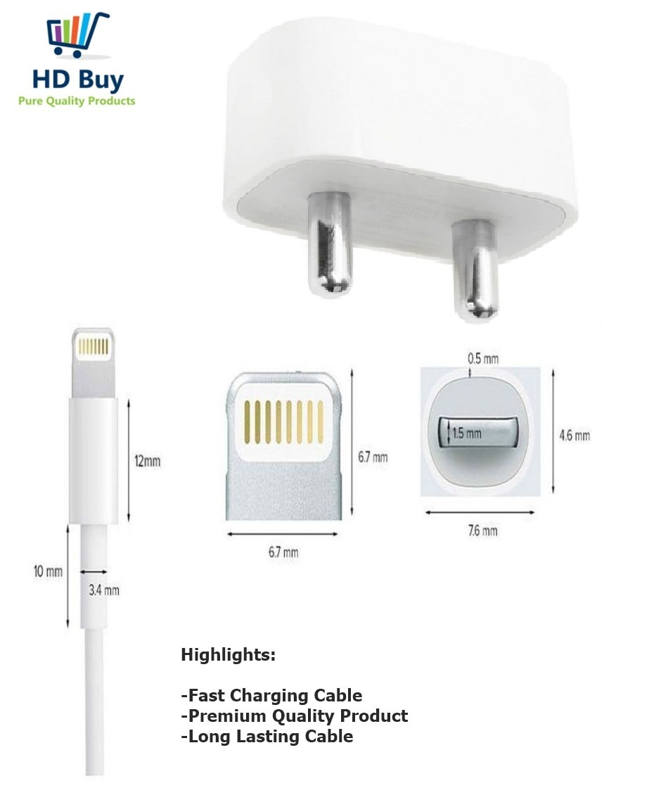 HD Buy Fast charger for apple Iphone 5/5s/5c/6/6s/6s plus/7/8/8plus/Iphone X