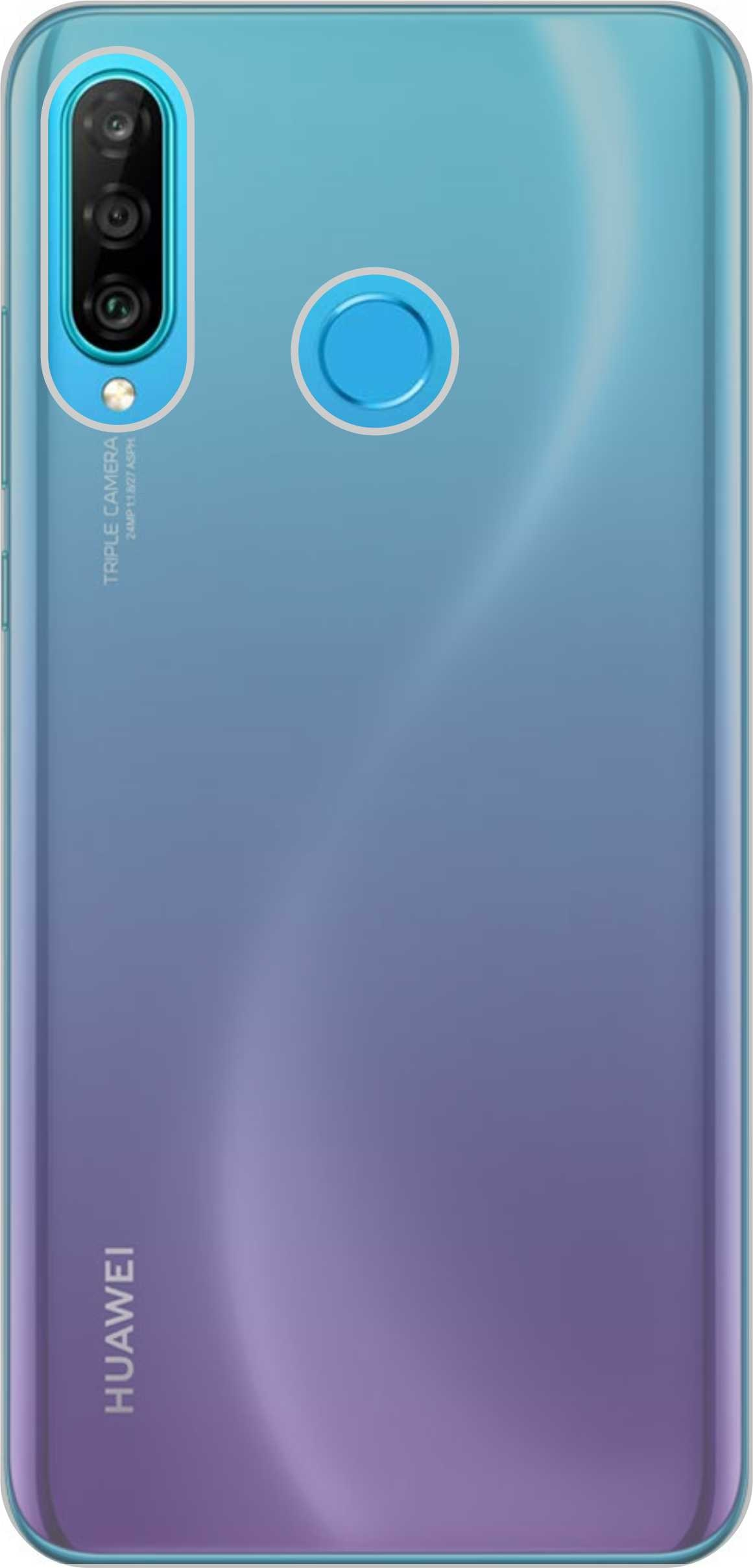 Huawei P 30 Lite Back Cover (Transparent)