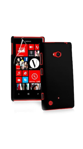 JMD Back Cover For Nokia Lumia 720  Black  available at Paytm for Rs.143