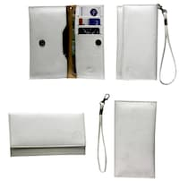 Jo Jo A5 G8 Leather Wallet Universal Pouch For Nokia 808 PureView (White)