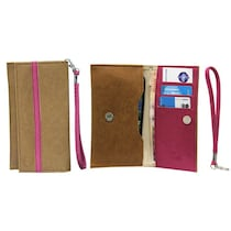 Jo Jo A5 Nillofer Leather Pouch For Celkon A119Q Signature Hd (Brown)