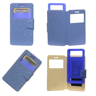 Jo Jo Flip Cover For Micromax Superfone A100 Canvas  Blue  available at Paytm for Rs.442