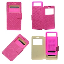 Jo Jo Flip Cover For Huawei Ascend Y511 (Exotic Pink)