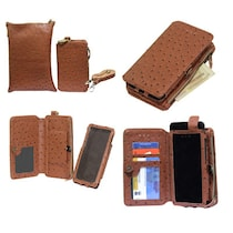 Jo Jo Wallet Case Cover For Celkon A119Q Signature HD (Brown)