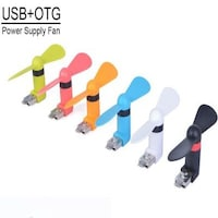 Link+ mini OTG fan for Iphone Black/ Blue/ Green/ Pink/ Orange/ White (2 blades) Colors May Vary