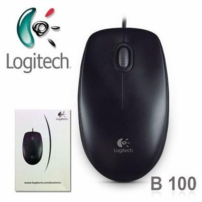 Logitech B100 USB Optical Mouse (Black)