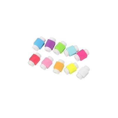 10 Pcs USB Charger Cable Cord Protector Saver Cover (Colours May Vary)