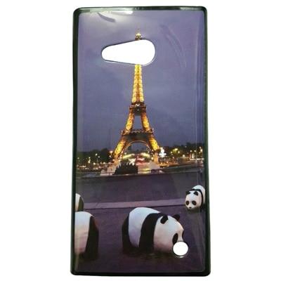 MannMohh Panda Eiffel Soft Back Cover Nokia Lumia 730 (Multi Color)